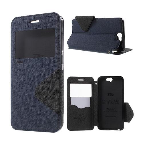 ROAR KOREA Fönster Läderfodral för HTC One A9 – Mörkblå