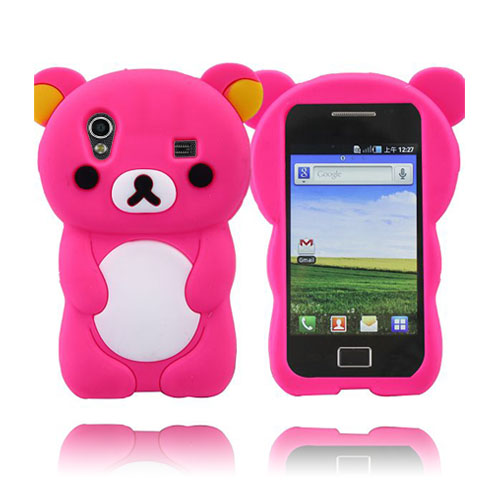 Cute Bear (Het Rosa) Samsung Galaxy Ace Skal