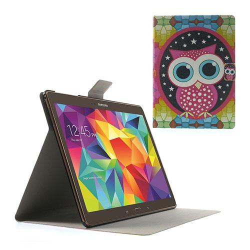 Moberg Samsung Galaxy Tab S 10.5 Läder Fodral med Stativ – Cartoon Uggla
