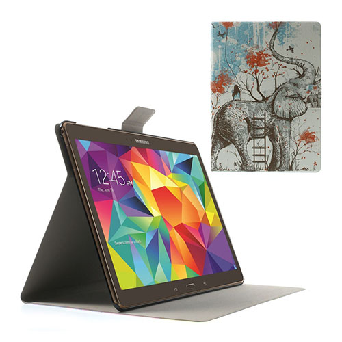 Moberg Samsung Galaxy Tab S 10.5 Läder Fodral med Stativ – Elefant och Flicka