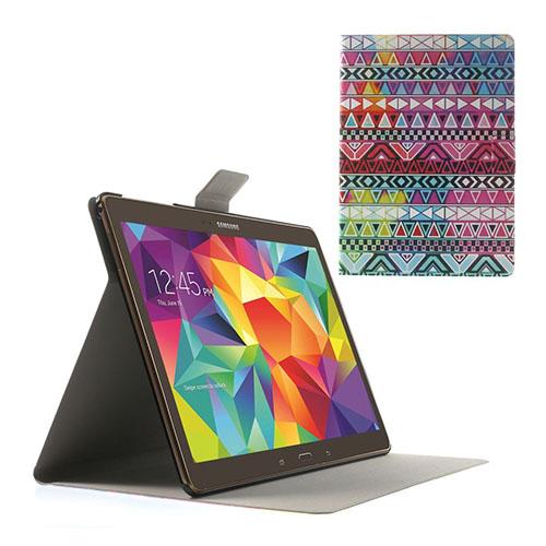 Moberg Samsung Galaxy Tab S 10.5 Läder Fodral med Stativ – Tribal Trianglar