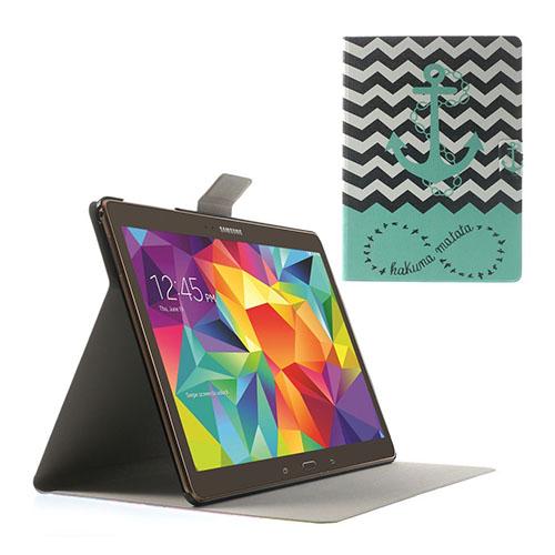 Moberg Samsung Galaxy Tab S 10.5 Läder Fodral med Stativ – Ankare och Chevron Ränder