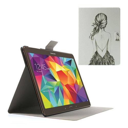 Moberg Samsung Galaxy Tab S 10.5 Läder Fodral med Stativ – En Flickas Rygg
