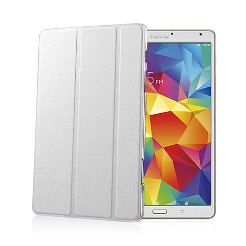 Heiberg (Vit) Samsung Galaxy Tab S 8.4 Läder Triple-Fall Fodral