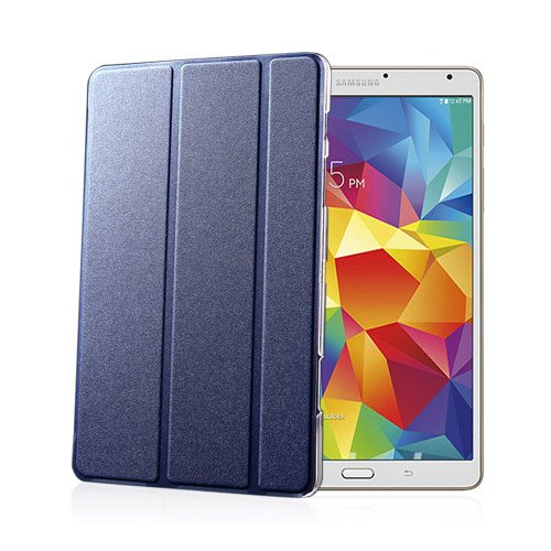 Heiberg (Ljus Blå) Samsung Galaxy Tab S 8.4 Läder Triple-Fall Fodral
