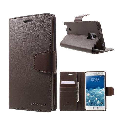 Mercury Samsung Galaxy Note Edge Fodral med Plånbok – Brun