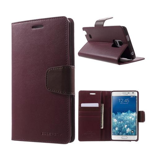 Mercury Samsung Galaxy Note Edge Fodral med Plånbok – Vinröd
