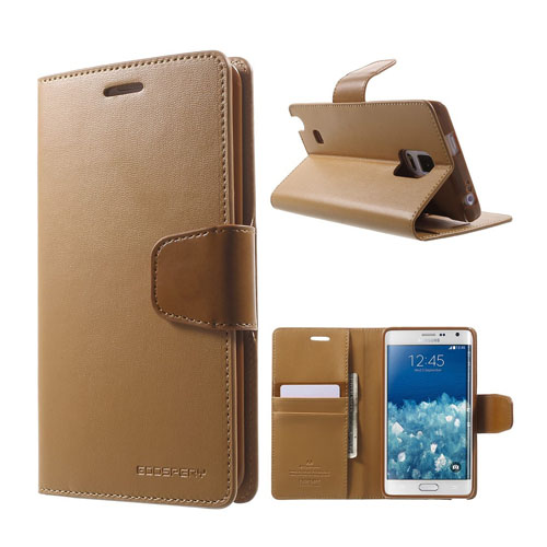 Mercury Samsung Galaxy Note Edge Fodral med Plånbok – Kaffe