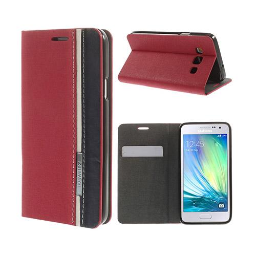 Trenter Samsung Galaxy A3 Flip Fodral – Röd
