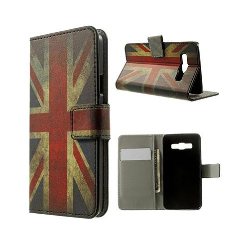 Moberg Samsung Galaxy A3 Läder Fodral med Korthållare – Vintage UK Flagga