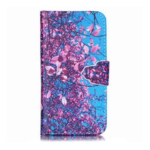 Moberg Hand Flip Samsung Galaxy A3 Fodral – Träd med Rosa Löv
