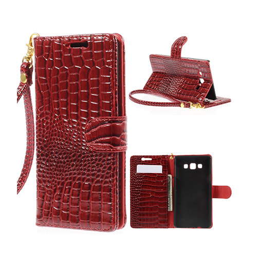 Marx (Röd) Samsung Galaxy A7 Fodral med Plånbok
