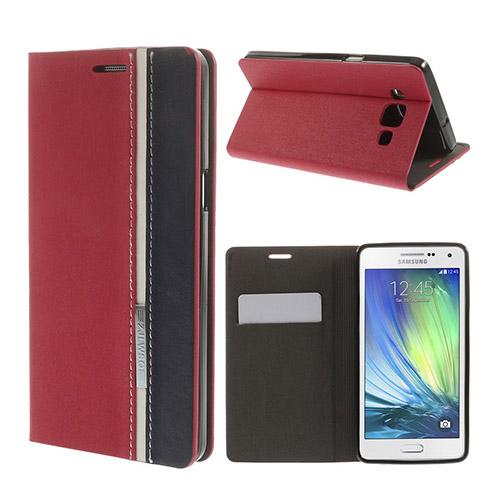 Trenter Samsung Galaxy A5 Läder Flip Fodral – Röd