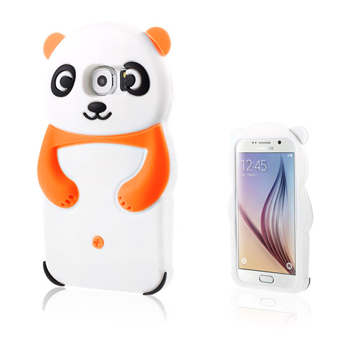 Panda Samsung Galaxy S6 Skal – Orange