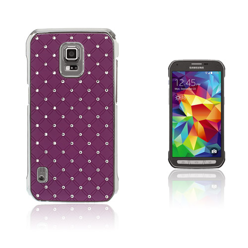 Strass Stjärnhimmel Samsung Galaxy S5 Active Skal – Lila