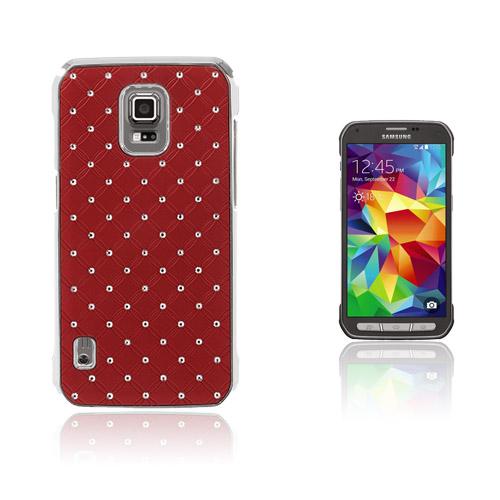 Strass Stjärnhimmel Samsung Galaxy S5 Active Skal – Röd
