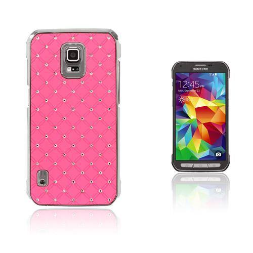 Strass Stjärnhimmel Samsung Galaxy S5 Active Skal – Rosa