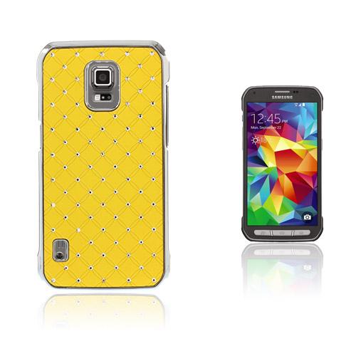 Strass Stjärnhimmel Samsung Galaxy S5 Active Skal – Gul