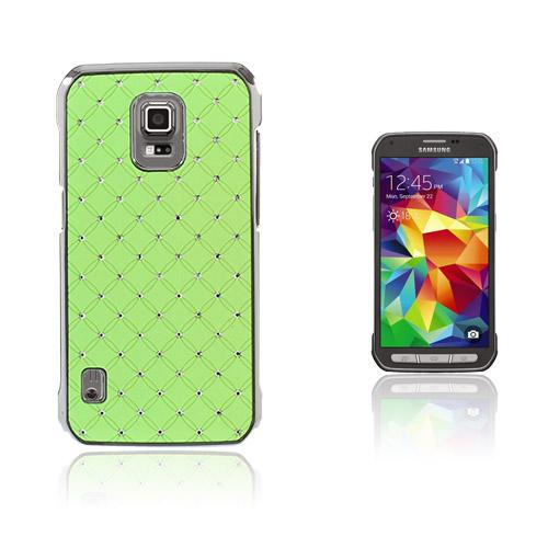 Strass Stjärnhimmel Samsung Galaxy S5 Active Skal – Grön
