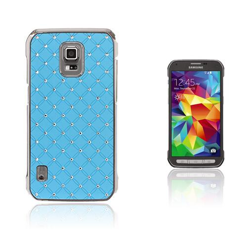 Strass Stjärnhimmel Samsung Galaxy S5 Active Skal – Ljus Blå