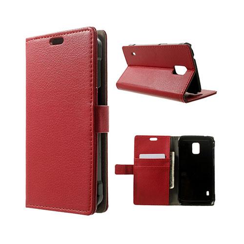 Mankell (Röd) Samsung Galaxy S5 Active Läder Fodral med Korthållare