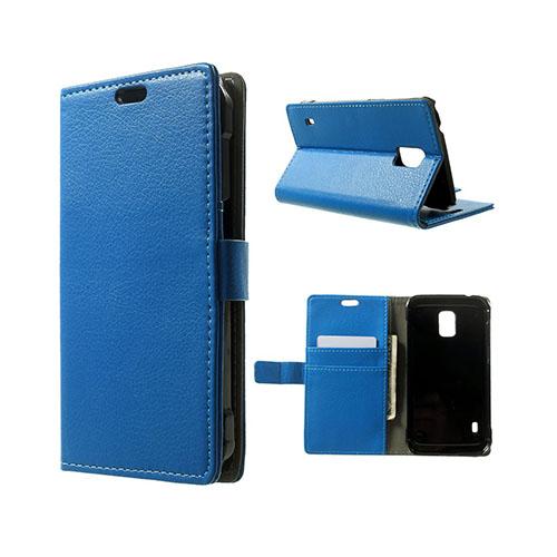 Mankell (Blå) Samsung Galaxy S5 Active Läder Fodral med Korthållare