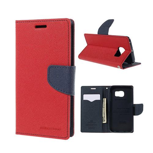 Mercury Samsung Galaxy S6 Edge Stativ Fodral – Röd