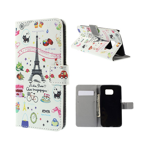 Moberg Samsung Galaxy S6 Edge Plånbok Fodral – Söta Paris