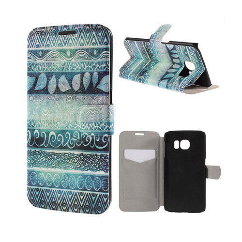 Moberg Samsung Galaxy S6 Edge Plånbok Fodral – Tribal Mönster