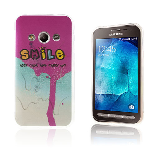 Westergaard Samsung Galaxy Xcover 3 Skal – Lila Smile & Keep Calm