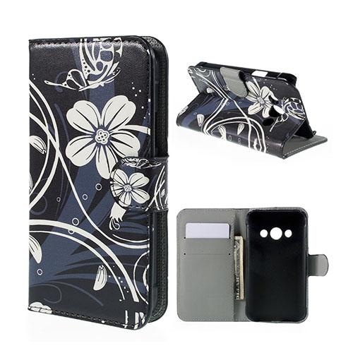 Moberg Samsung Galaxy Xcover 3 Fodral & Plånbok – Vita Blommor