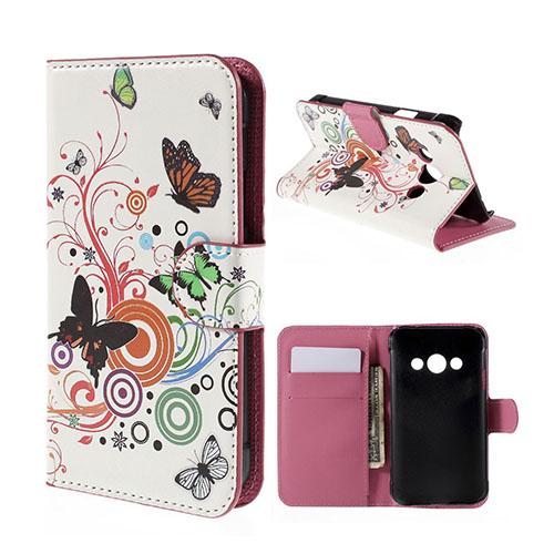 Moberg Samsung Galaxy Xcover 3 Fodral & Plånbok – Fjärilar & Cirklar