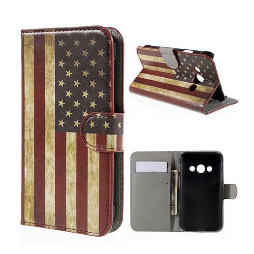 Moberg Samsung Galaxy Xcover 3 Fodral & Plånbok – USA Flagga