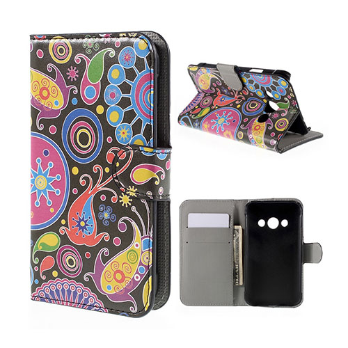 Moberg Samsung Galaxy Xcover 3 Fodral & Plånbok – Manet & Paisley Blommor