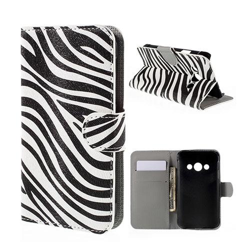 Moberg Samsung Galaxy Xcover 3 Fodral & Plånbok – Zebra