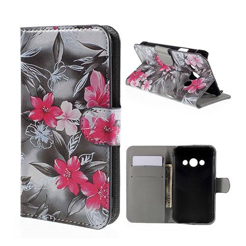 Moberg Samsung Galaxy Xcover 3 Fodral & Plånbok – Färgstarka Blommor