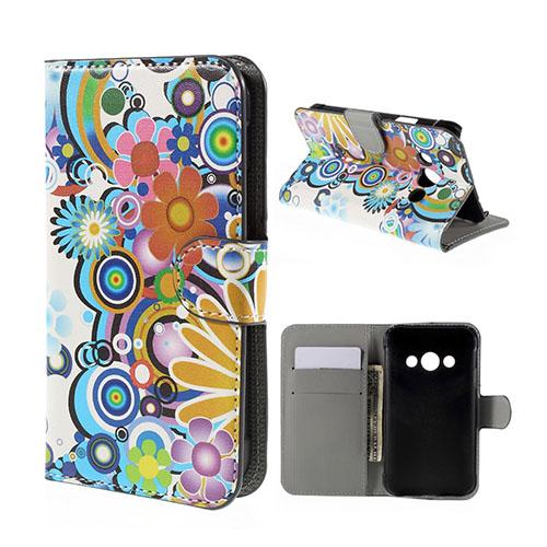 Moberg Samsung Galaxy Xcover 3 Fodral & Plånbok – Färgglada Blommor