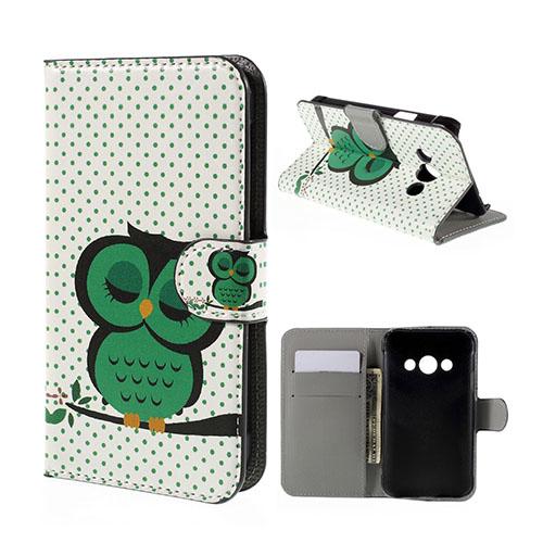 Moberg Samsung Galaxy Xcover 3 Fodral & Plånbok – Grön Uggla