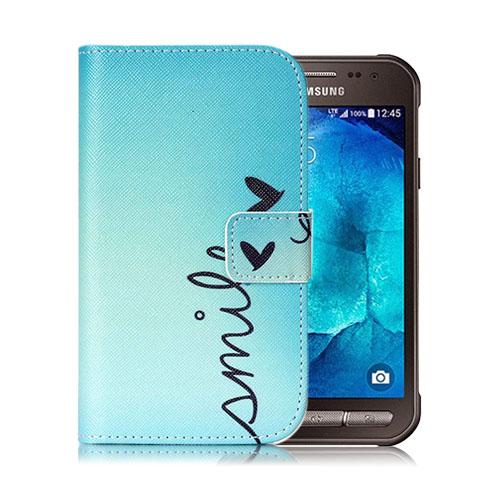 Moberg Samsung Galaxy Xcover 3 Läderfodral med Plånbok – Smile och Fjäril