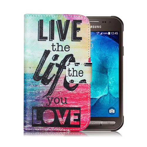 Moberg Samsung Galaxy Xcover 3 Läderfodral med Plånbok – Live The Life You Love