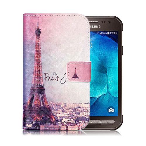 Moberg Samsung Galaxy Xcover 3 Läderfodral med Plånbok – Paris och Eiffeltornet