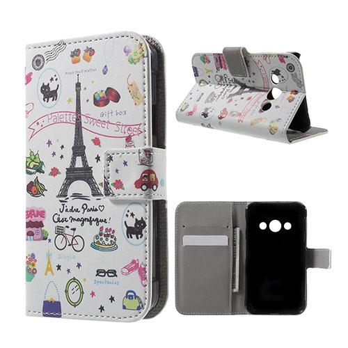 Moberg Samsung Galaxy XSkal 3 Fodral – Eiffeltornet och Tecknad Mönster