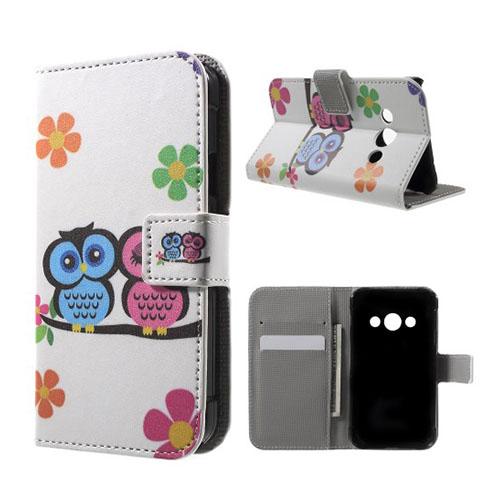 Moberg Samsung Galaxy XSkal 3 Fodral – Förtjusande Ugglor och Blommor