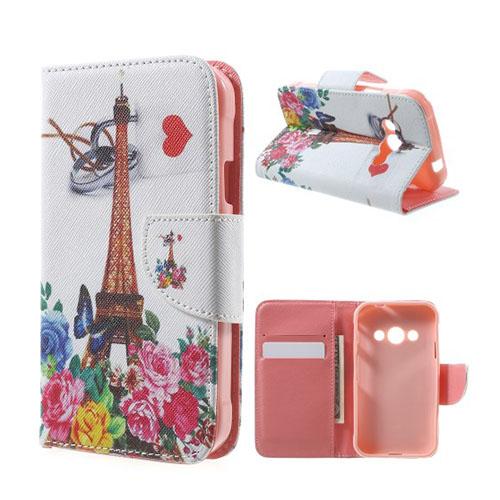Moberg Flip Samsung Galaxy XSkal 3 Fodral – Eiffeltornet & Blommor