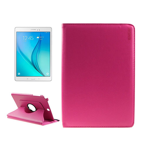 ENKAY Litchi Grain Samsung Galaxy Tab A 9.7 Fodral – Varm Rosa