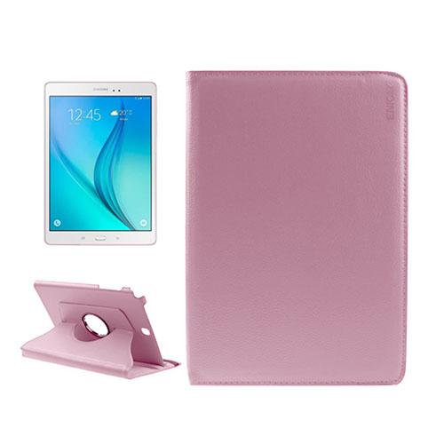 ENKAY Litchi Grain Samsung Galaxy Tab A 9.7 Fodral – Rosa