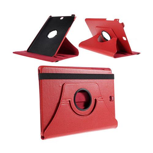 Jessen Samsung Galaxy Tab A 9.7 Läderfodral med Roterbart Stativ – Röd