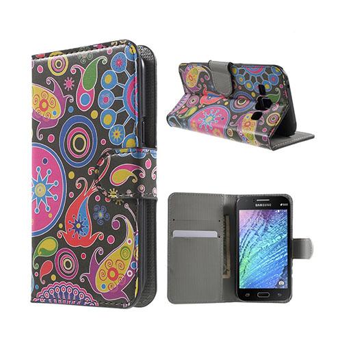 Moberg (Paisley Blommor) Samsung Galaxy J1 Fodral