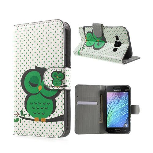 Moberg (Grön Sovande Uggla) Samsung Galaxy J1 Fodral