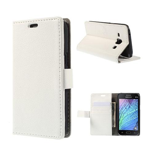 Mankell (Vit) Samsung Galaxy J1 Fodral med Plånbok